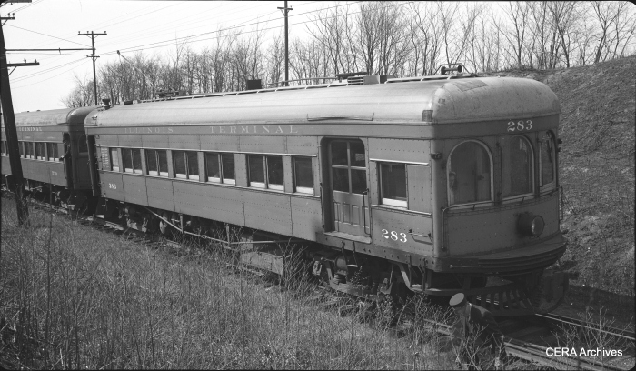 IT 283 was built by St. Louis Car Co. in 1913. (Photographer unknown - CERA Archives)