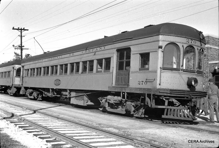 IT 270 at the Decatur station in May 1949. (Photographer unknown - CERA Archives)