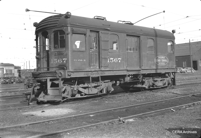 "Don's Rail Photos says IT 1567, Class B, ""was built at Decatur in 1914. It was sold to St Louis Car Co. as 11 on January 17, 1955."" (Photographer unknown)"