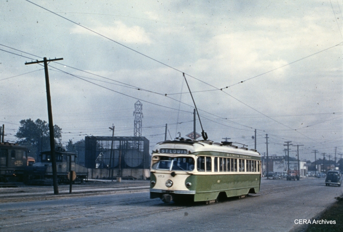 IT double-end PCC 453 in Granite City on October 6, 1950. (Photographer unknown - CERA Archives)