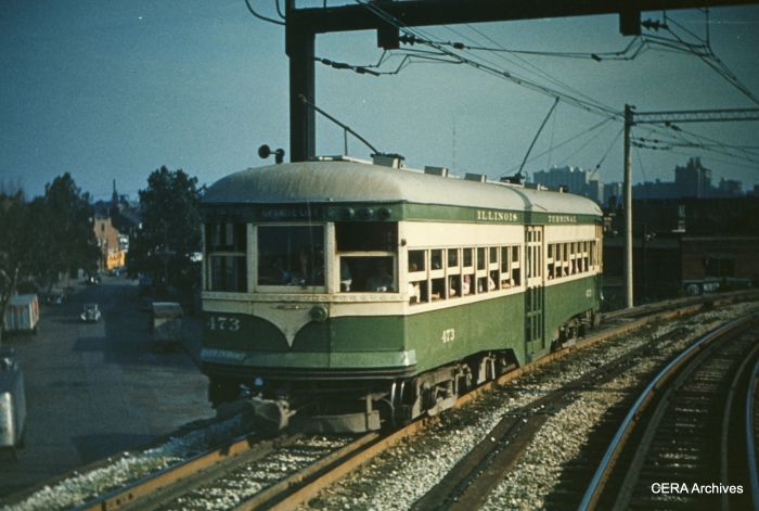 IT 473 leaving St. Louis in 1951. (Photographer unknown - CERA Archives)