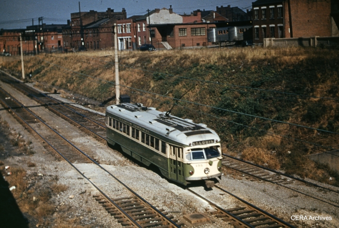 IT 455 in St. Louis in July 1952. (Photographer unknown - CERA Archives)