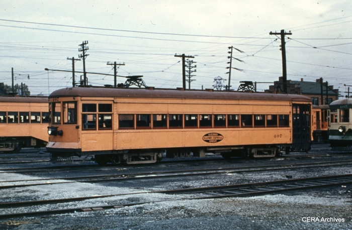 IT 407 at the Granite City Shops on October 6, 1950. (Photographer unknown - CERA Archives)