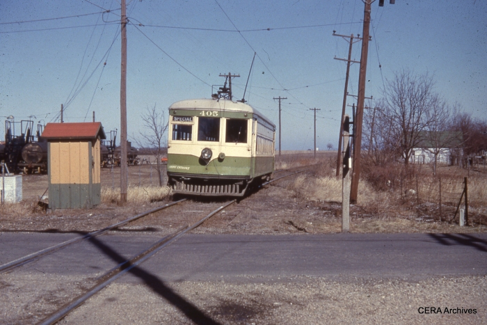 "IT 405 in a very ""country interurban"" scene. (Photographer unknown - CERA Archives)"
