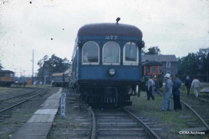 IT 277 at the Illinois Electric Railway Museum in North Chicago on September 15, 1957. (Charles L. Tauscher Photo - CERA Archives)