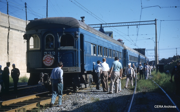 IT 276-529-530-532 on an NRHS special in St. Louis, September 6, 1953. (Photographer unknown - CERA Archives)