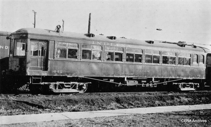 "IR 442, aka ""Eaton."" Don's Rail Photos reports, ""442 was built by Jewett in 1913 as Grand Rapids Holland & Chicago 20. In 1916 it became Michigan Rys. 112. When that company broke up in 1924, it reverted as GRH&C 112. In 1927 it was sold as UTI 442 ""Eaton"" and became IRR 442 in 1930. It was rebuilt to one man in 1936."" (Barney Neuburger Photo - CERA Archives)"