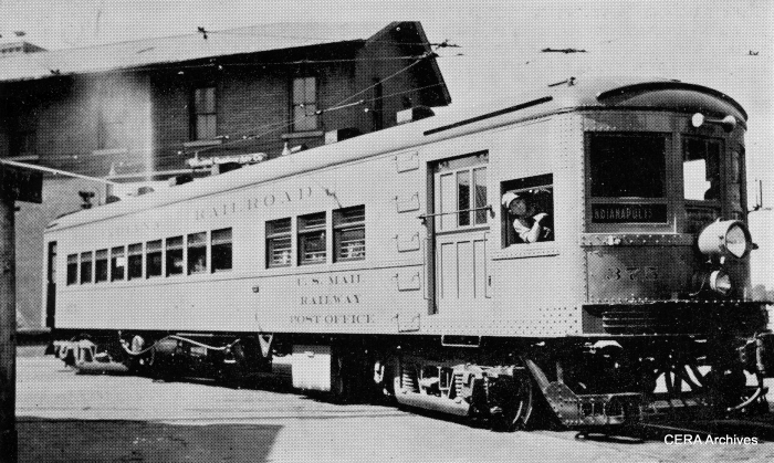 IR 375, one of three Railway Post Office motors used between Indianapolis and Peru, and between Ft. Wayne and Newcastle. (Barney Neuburger Photo - CERA Archives)