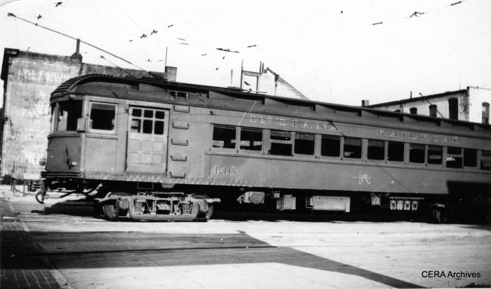 IR 446 at the Ft. Wayne terminal on August 2, 1938, bound for Indianapolis via the Peru Division. (Photographer unknown - CERA Archives)