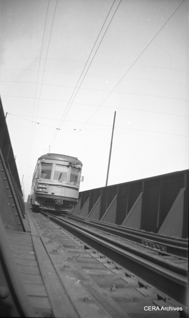 One of the IR lightweight high-speeds on a Louisville Local run. (Photographer unknown - CERA Archives)