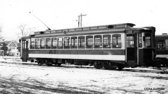 RTC 630 at East Main Station on January 12, 1934. (Photographer unknown - CERA Archives)