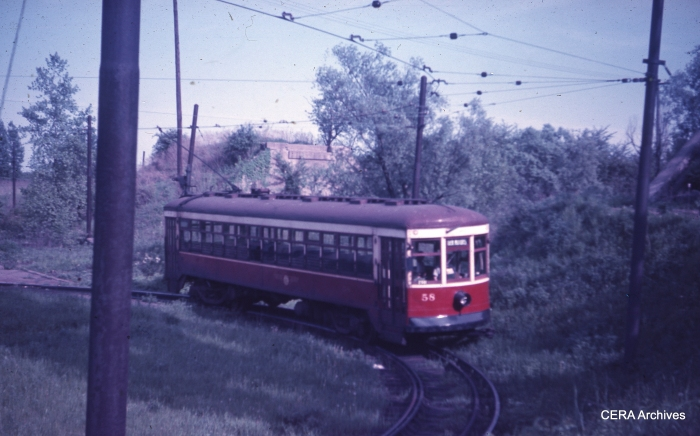 RTC 58 on a turnback loop. (Photographer unknown - CERA Archives)
