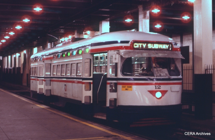 Car 12 in the subway in January 1983. (Photographer Unknown - CERA Archives)