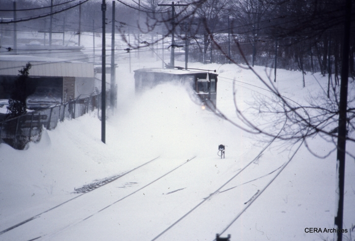 Snow sweeper 5178 at work in Newark in February 1967. (Photographer Unknown - CERA Archives)