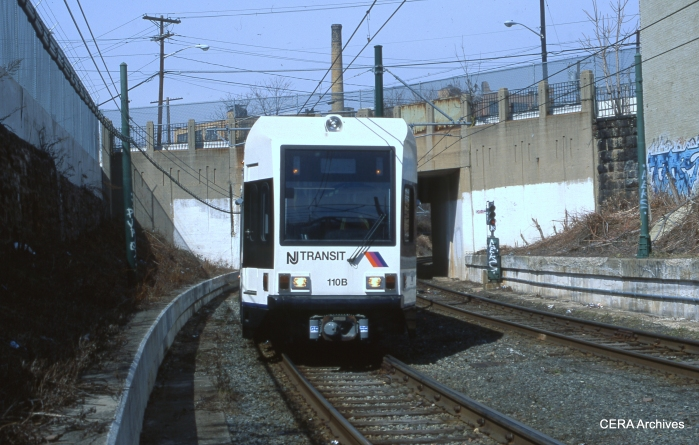 LRV 110 at Sussex Street on March 11, 2001. (William J. Madden Photo - CERA Archives)