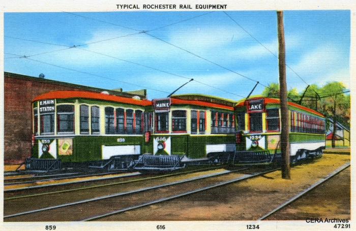 Rochester subway equipment, built between 1906 and 1916, from an old postcard. (CERA Archives)