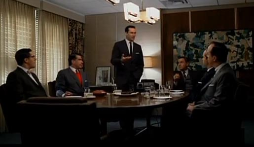 "Don Draper makes his pitch to Kodak in a 2007 episode of ""Mad Men."""