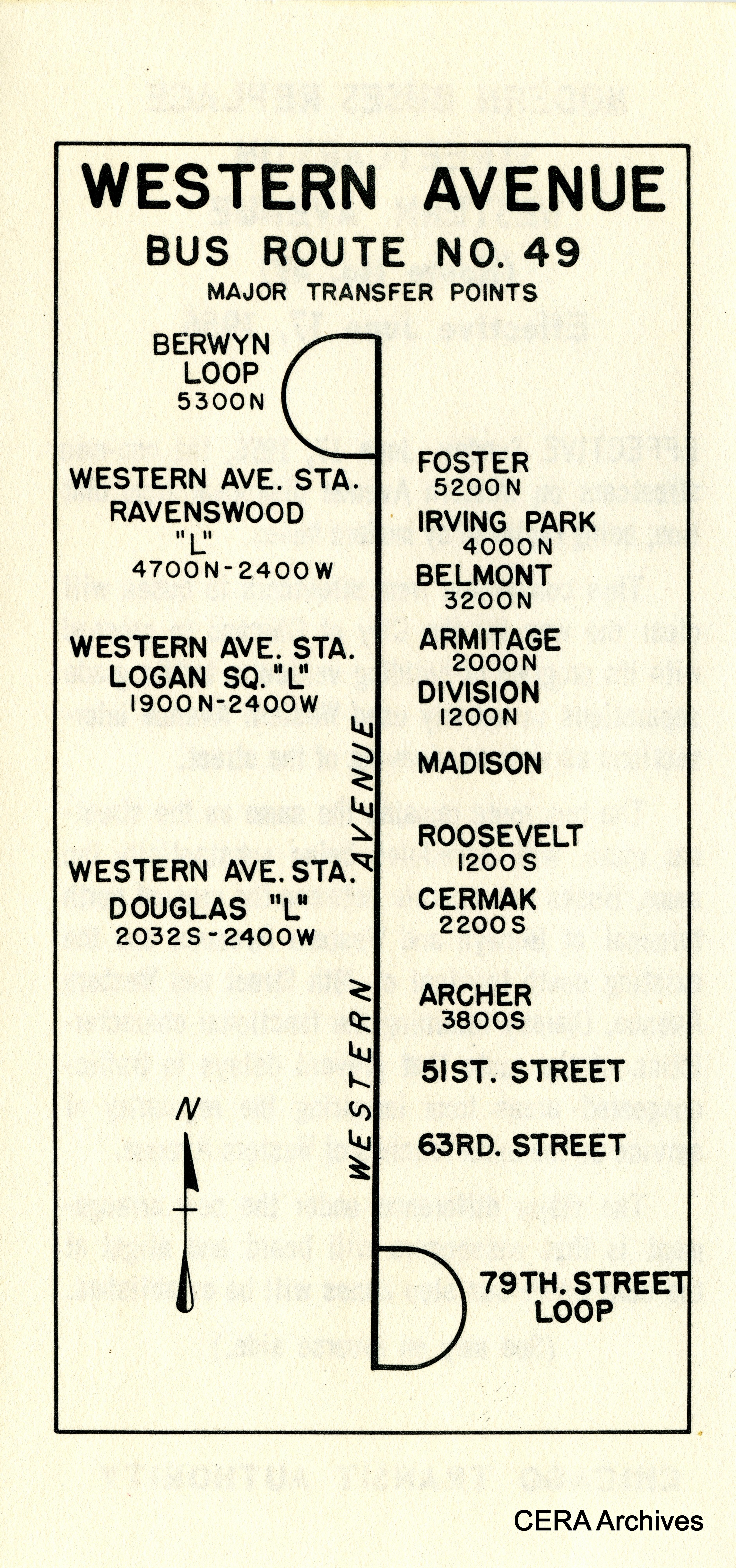 CERA Chicago - 1950s CTA Service Change Leaflets