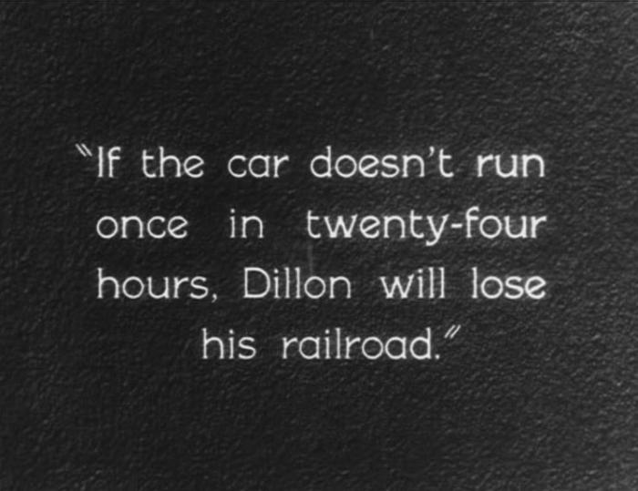 "A title card from ""Speedy"" (1928)."