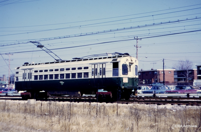 CTA 25 is southbound from Dempster on March 16, 1968. (Stephen M. Scalzo Photo - CERA Archives)