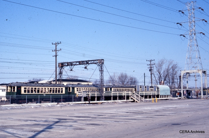 4000s at Dempster in fantrip service. (Rex K. Nelson Photo - CERA Archives)