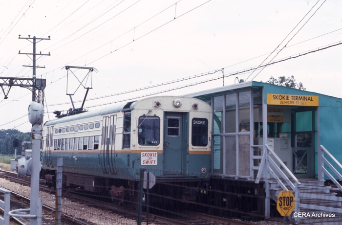 CTA 24 at the northern end of the line in August 1967. (CERA Archives)