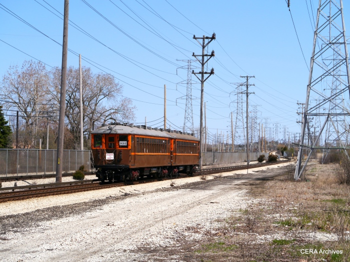 The 4000s heading east at East Prairie Road.