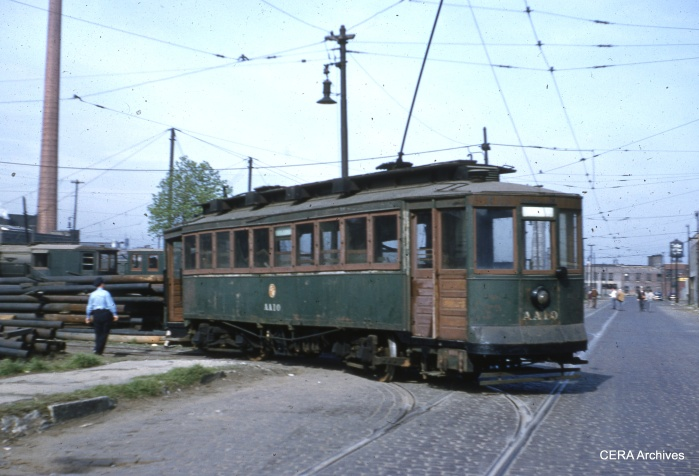 Another work car, the CTA EE10. (Richard C. Cerne Photo - CERA Archives)