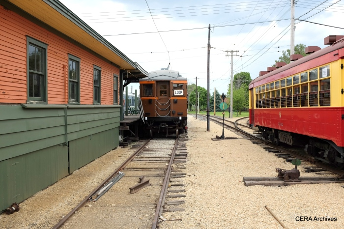 """The dedication ceremony, fittingly, took place at 50th Avenue """"L"""" station, which was transplanted to IRM from Cicero."""