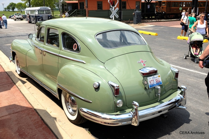 Along with the Ford bus, a 1948 Chrysler added to the history of the occasion.