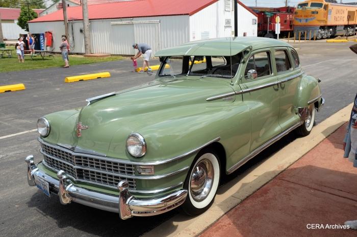 The 1948 Chrysler sedan, complete with optional sun visor.
