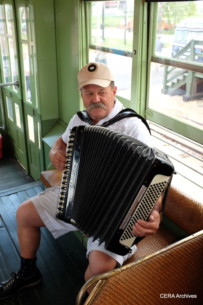Fans on 141 were serenaded by an accordion player.