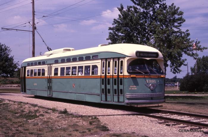 PCC 4391 in service at Union in the mid-1980s. (David Sadowski Photo - CERA Archives)