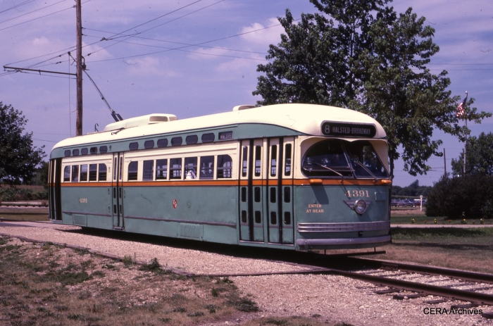 PCC 4391 in service at Union in the mid-1980s. (David Sadowski Photo - CERA Archives)