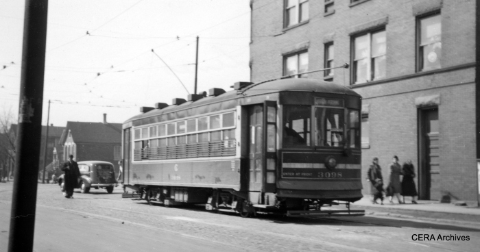 One-man car 3098. (R. J. Anderson Photo - CERA Archives)