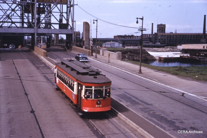 473 northbound on Western, approaching 31st. (CERA Archives)