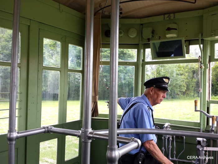 At the helm of the C&WT 141. (Diana Koester Photo)