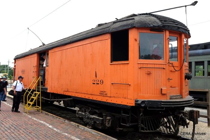North Shore Line merchandise dispatch car 229 was built by Cincinnati Car Co. in 1922. (David Sadowski Photo)