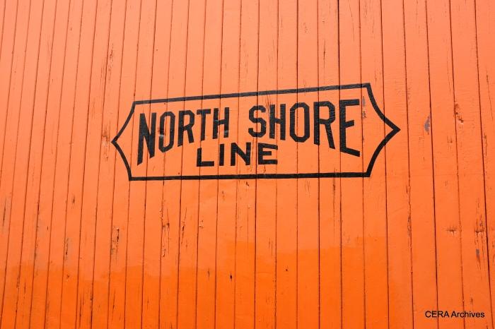 The famous North Shore Line logo on car 229. (David Sadowski Photo)