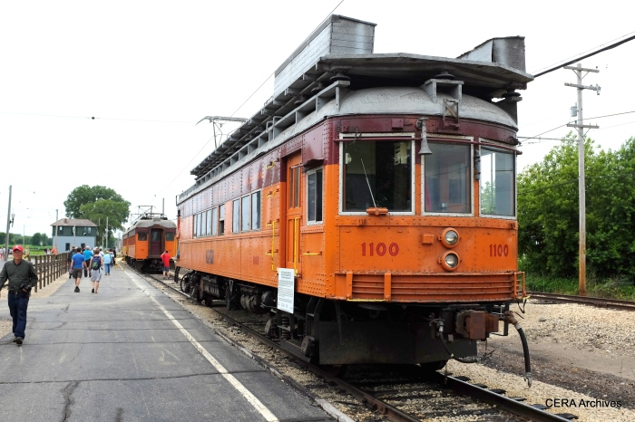 The 2014 Trolley Pageant was a rare opportunity to ride equipment such as the CSS&SB line car 1100. (David Sadowski Photo)