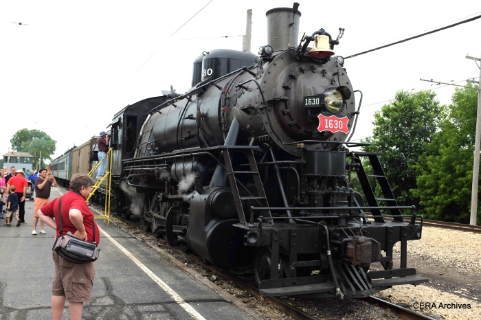 """Steam is alive and well at IRM, in the form of the """"Frisco"""" 1630. (David Sadowski Photo)"""