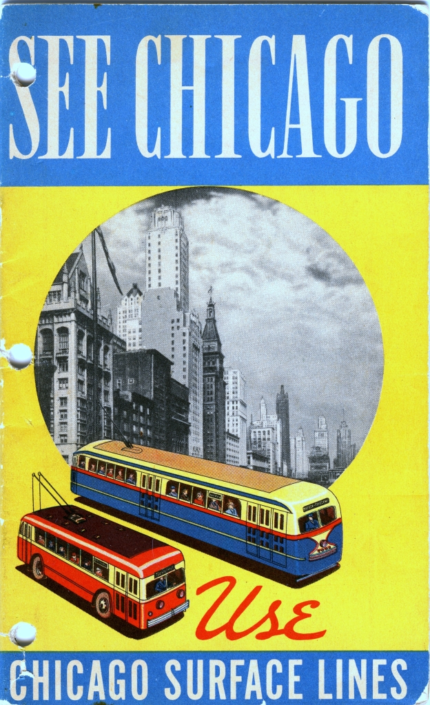 A Chicago Surface Lines brochure, circa 1937. (CERA Archives)