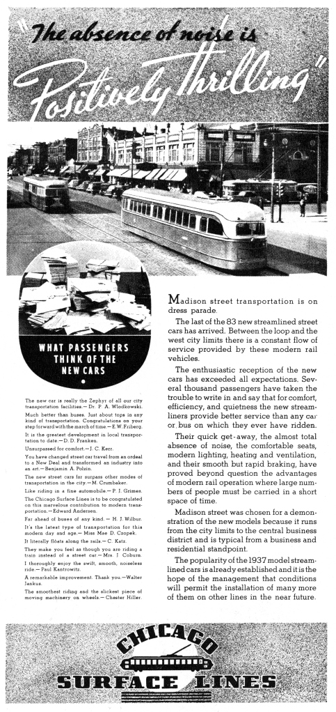 From the March 1937 Surface Service magazine. (CERA Archives)