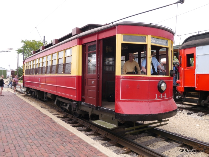 CSL 144 on the Trolley Loop. (David Sadowski Photo)