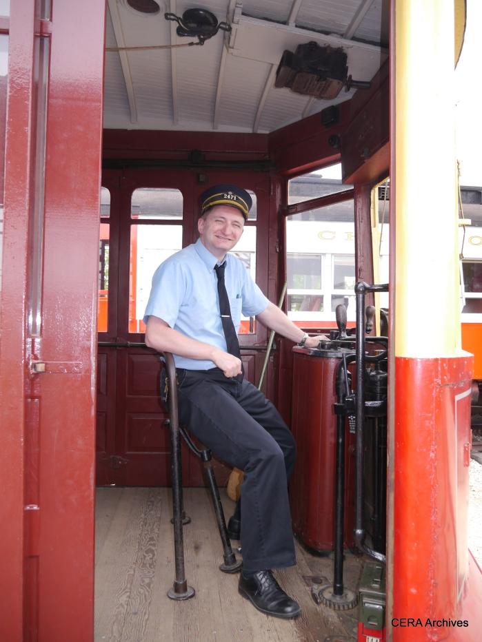 Frank Hicks at the controls of 144. (David Sadowski Photo)