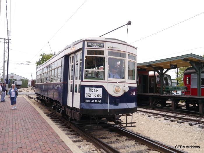 Newly restored C&WT 141. (David Sadowski Photo)