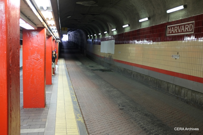 The Harvard Square bus tunnel.