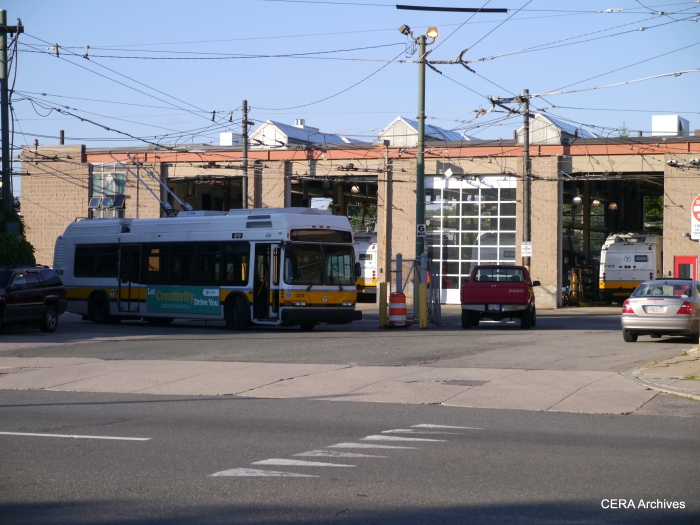 MBTA's trolley coach garage on Mass Avenue.