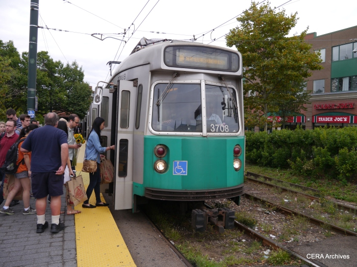 """Boston's """"Type 7"""" cars, to my eyes, are a cross between a PCC and the Boeing-Vertol LRVs."""