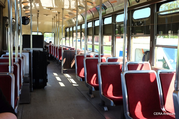 Interior of the Chicago tribute car.